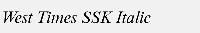 West Times SSK Italic