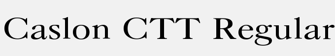 Caslon CTT Regular
