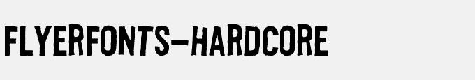 Flyerfonts-Hardcore