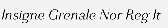 Grenale Norm Regular Italic