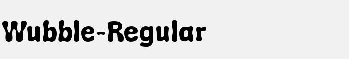 Wubble-Regular
