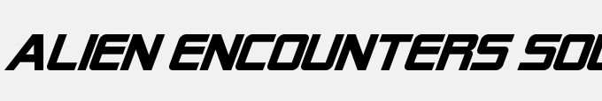 Alien Encounters Solid Bold Italic