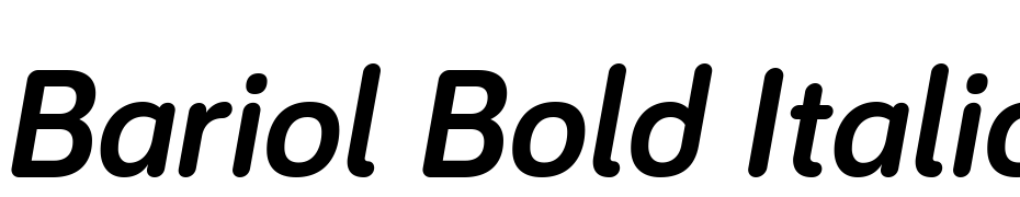 Bariol Bold Italic Font Free Download