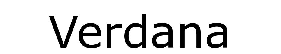 Verdana Font Download Free