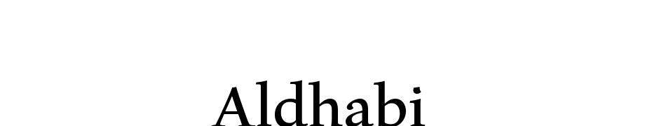 Aldhabi Font Download Free