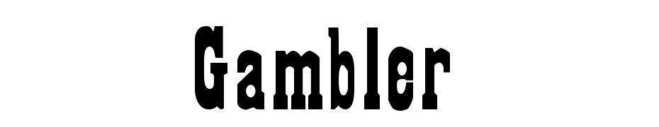 Gambler Font Download Free