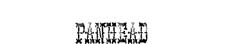 PANHEAD cкачать шрифт бесплатно