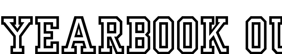 Yearbook Outline Font Download Free