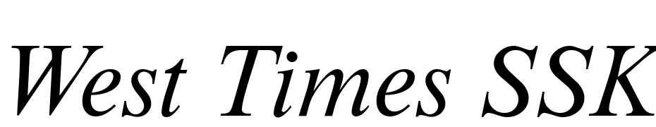 West Times SSK Italic Font Download Free