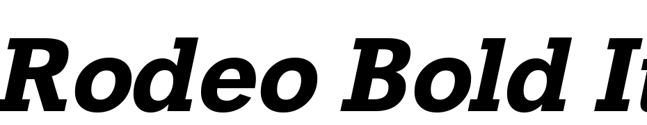 Rodeo Bold Italic Font Free Download