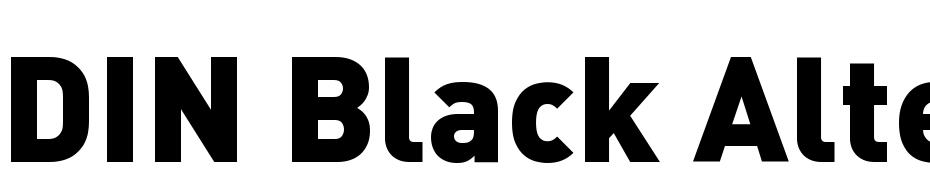 DIN-BlackAlternate Font Free Download