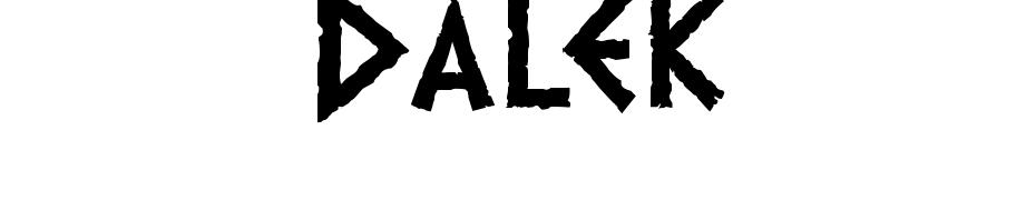 Dalek Yazı tipi ücretsiz indir