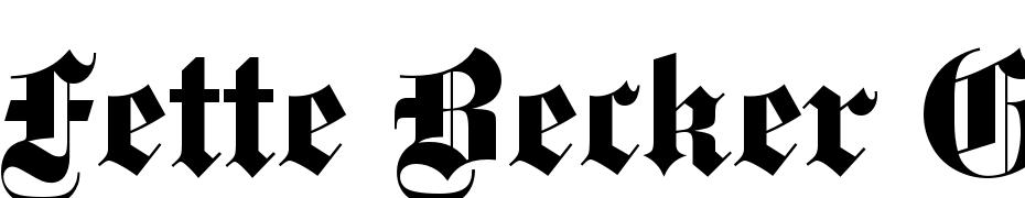 Fette_Becker_Gotisch Font Download Free