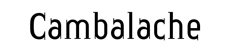 Cambalache Yazı tipi ücretsiz indir