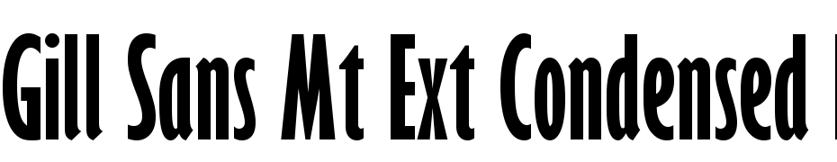 Gill Sans MT Ext Condensed Bold Font Free Download