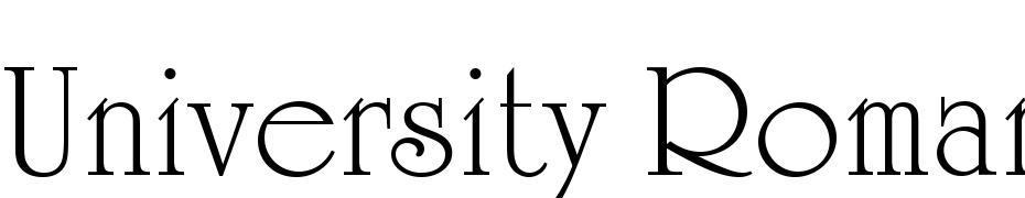 University Roman LET Plain:1 0 Font Free Download