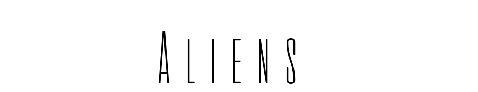 Aliens & Cows Thin Font Download Free