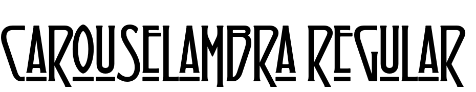 Carouselambra Regular Font Download Free