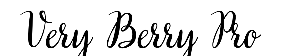 Very Berry Pro Font Download Free