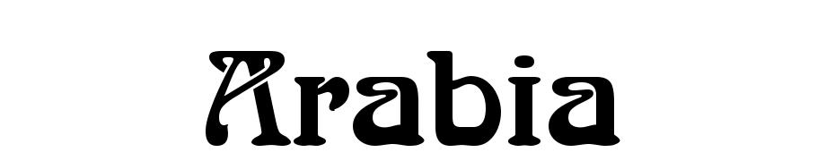 Arabia Font Download Free