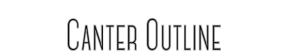 Canter Outline Font Download Free