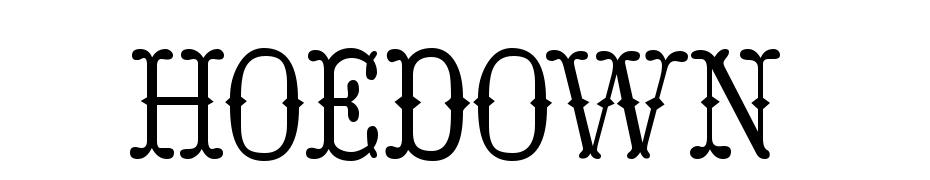 Hoedown Yazı tipi ücretsiz indir