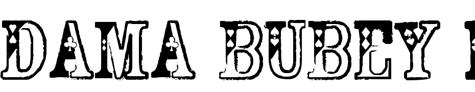 Dama Bubey Normal Font Download Free