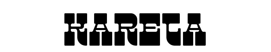 Kareta cкачати шрифт безкоштовно