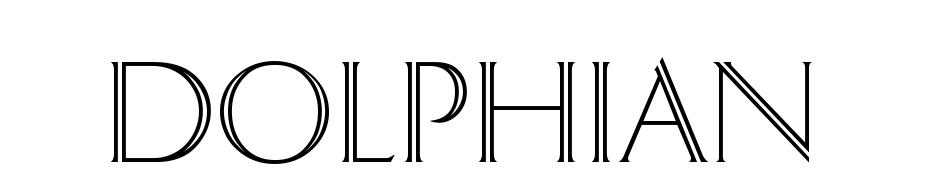 Dolphian cкачать шрифт бесплатно