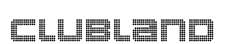 Clubland cкачати шрифт безкоштовно