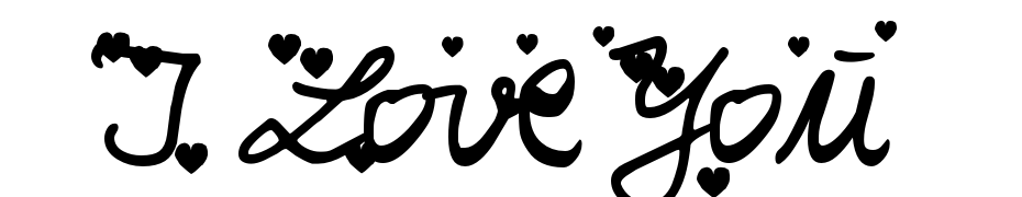 Iloveyou Font Download Free