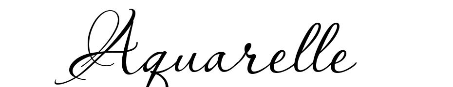Aquarelle Font Download Free