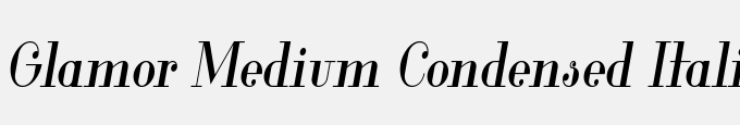 Glamor Medium Condensed Italic