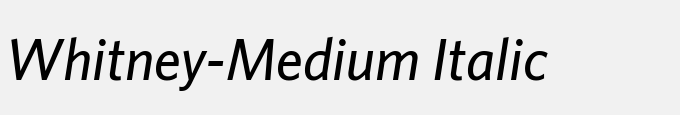 Whitney-Medium Italic