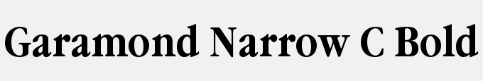 Garamond Narrow C Bold