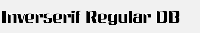 Inverserif Regular DB