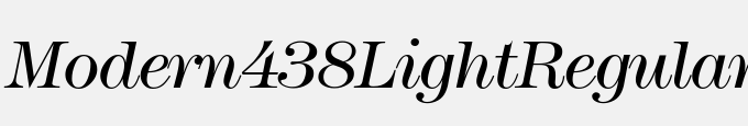 Modern438Light-Regular Italic