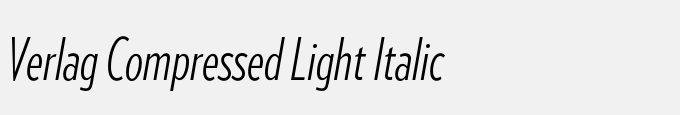 Verlag Compressed Light Italic