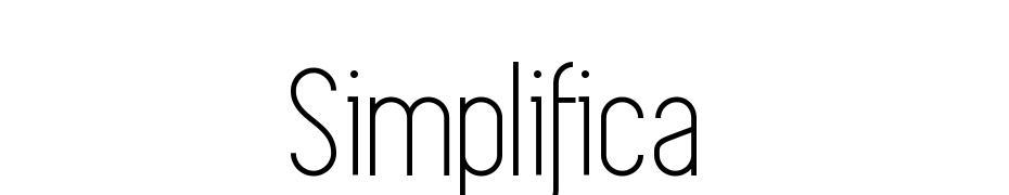 Simplifica Fuente Descargar Gratis