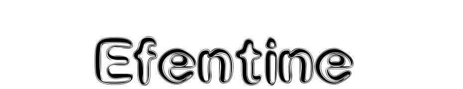 Efentine cкачати шрифт безкоштовно