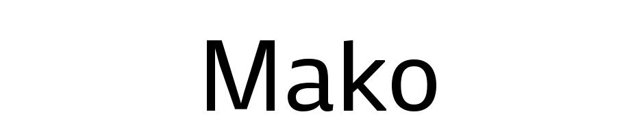 Mako cкачать шрифт бесплатно