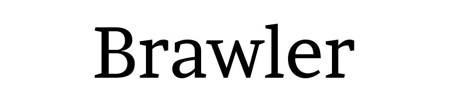 Brawler cкачать шрифт бесплатно