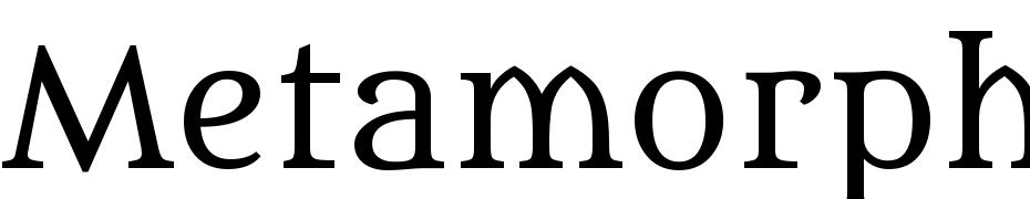 Metamorphous Font Download Free
