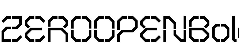 ZEROOPENBold Font Download Free