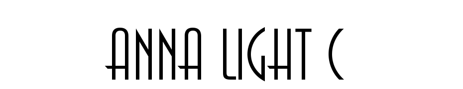 Anna Light C Font Download Free