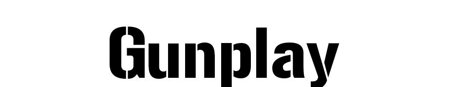Gunplay Yazı tipi ücretsiz indir