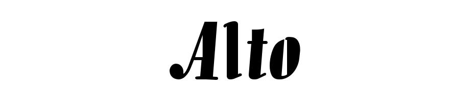 Alto cкачать шрифт бесплатно