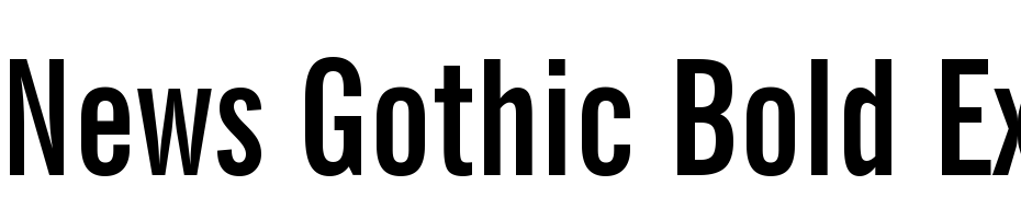 News Gothic Bold Extra Condensed BT Polices Telecharger
