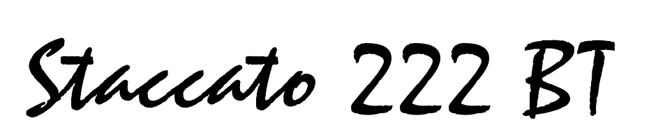 Staccato 222 BT Font Download Free