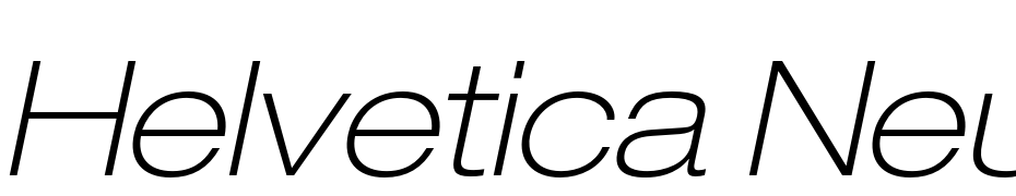 Helvetica Neue LT Pro 33 Thin Extended Oblique Scarica Caratteri Gratis